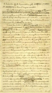 Declaration of Independence drafted on hemp