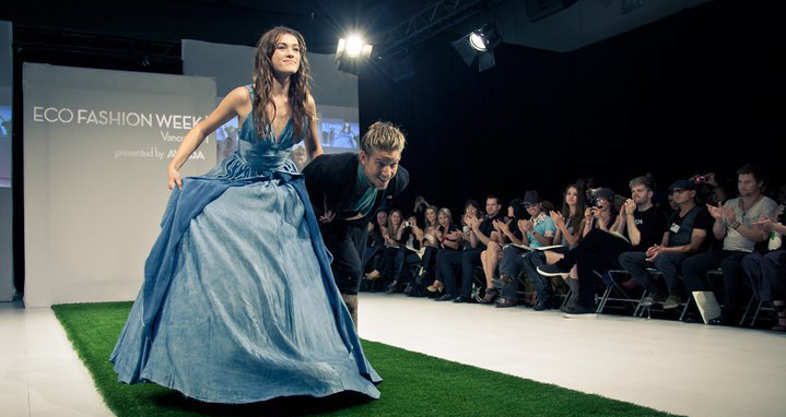 Jeff Garner takes a bow at Eco Fashion Week in Vancouver