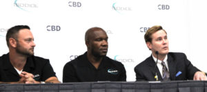 MLB player Josh Kinney, NFL champ Marvin Washington and Pain Specialist Dr. David Tonkin at SCCCExpo