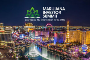 Marijuana Investor Summit Las Vegas Nov 15-16, 2016