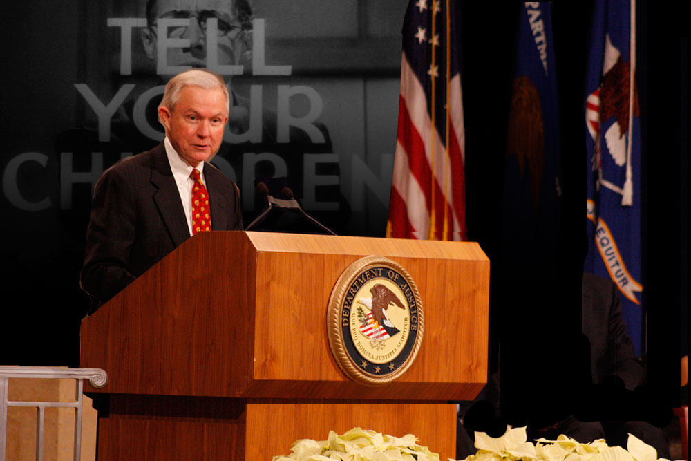 U.S. Attorney General Sessions At the Podium