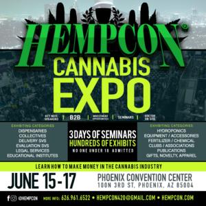 HempCon Cannabis Expo Phoenix June 15-17 at the Phoenix Convention Center