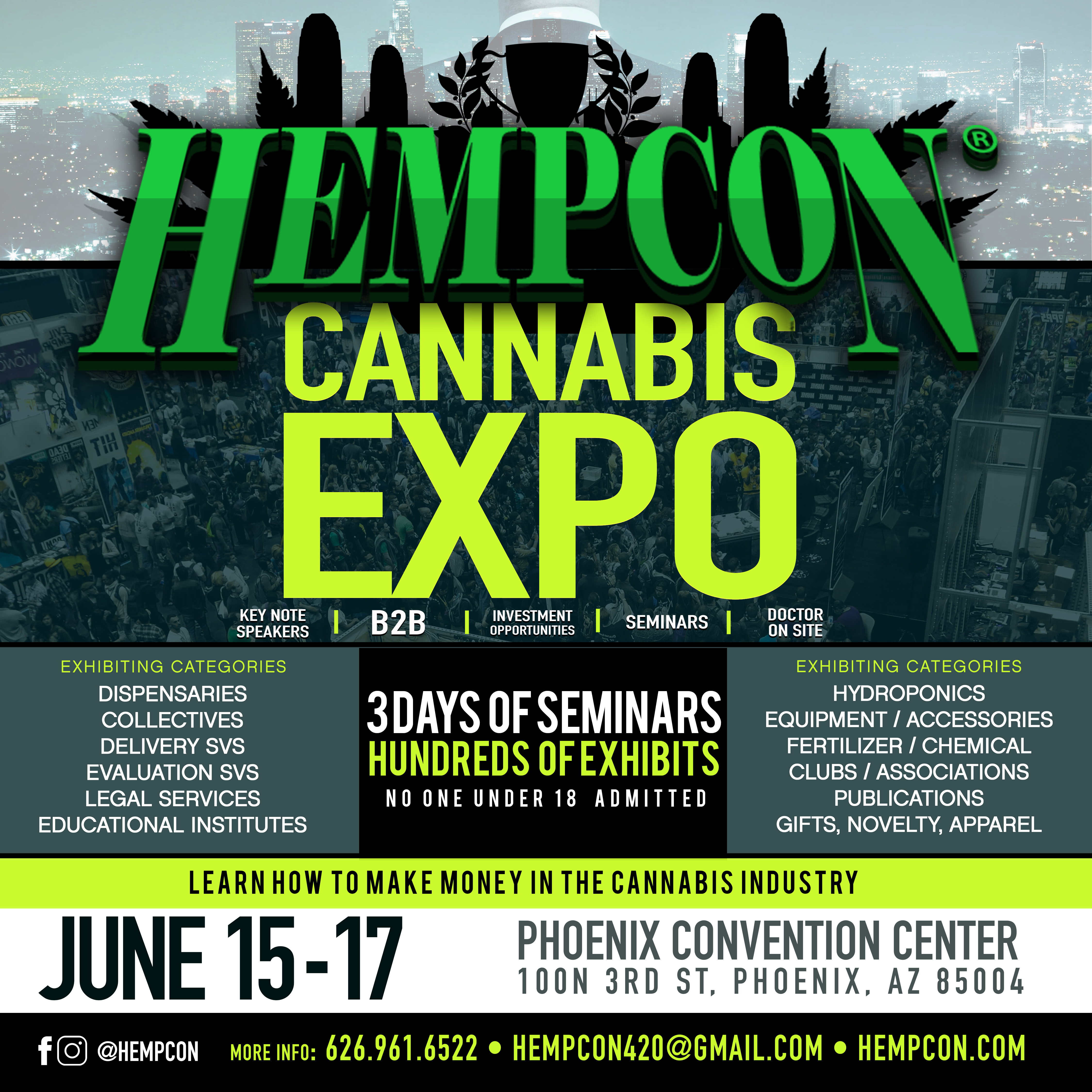HempCon Cannabis Expo Phoenix June 15-17 at the Phoenix Convention Center