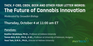 Phytecs presents The Future of Cannabis Webinar Oct 4 11 a.m. ET