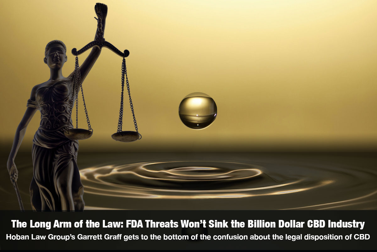 Long Arm of the Law: FDA Threats Won't Sink the Billion Dollar CBD Industry Interview with Garrett Graff, Hoban Law Group, Hosted by Snowden Bishop on The Cannabis Reporter Radio Show