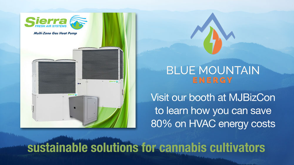 Sierra Fresh HVAC units - Visit Blue Mountain Energy at MJBizCon to see how you can save 80% on HVAC electricity costs
